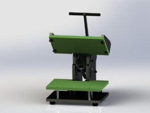 7540 Flip top mechanical press - open